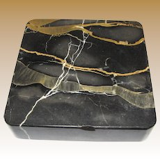 Antique Striated Black Marble Paperweight