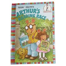 Arthur's Reading Race by Marc Brown, HC 1st Edition, Nearly New