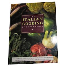 The Italian Cooking Encyclopedia by Capalbo, Whiteman, Wright & Boggiano HC Large Book