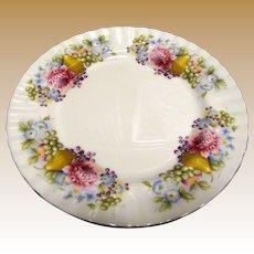 "6 Royal Albert 8"" Plates w/ Pears, Grapes & Dahlias"