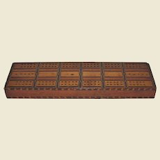A Victorian Marquetry Cribbage Board