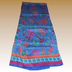 "50"" Vibrant Brights Floral Silk Scarf"