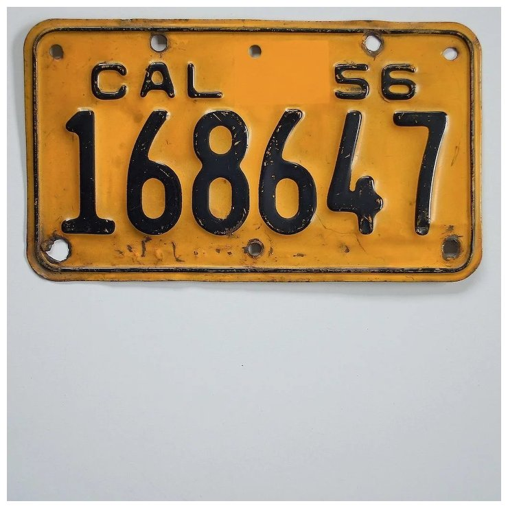 Vintage California Motorcycle License Plate 1956-1962 SOLD | Ruby Lane