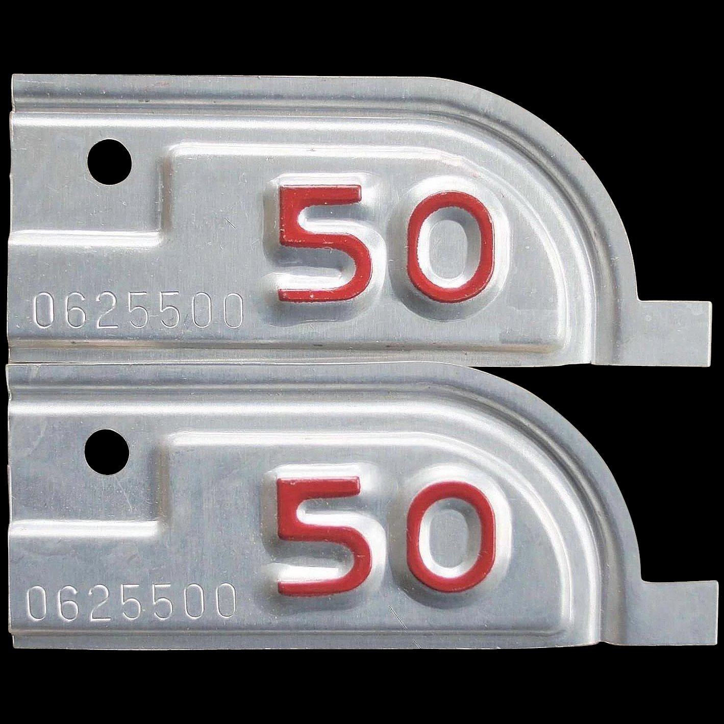 1950 California License Plate Tabs SOLD | Ruby Lane