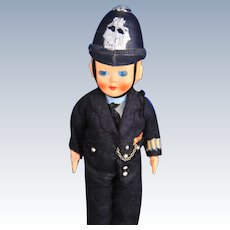Celluloid British Bobby Policeman Doll