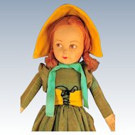 Norah Wellings Girl, Larger Cloth Doll, circa 1930s