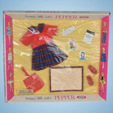 Pepper Ideal Tammy's Little Sister Teacher's Pet Outfit NRFB 1963