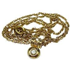 Beautiful Diamond 14K YG Pendant and Chain Necklace Fine