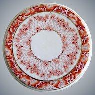 Antique Wedgwood & Co. Porcelain Hand Painted Floral Trivet FLORA