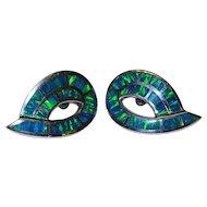 Vivid Gilson Lab Opal Sterling Silver Post Earrings Fine