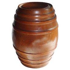 Vintage Wood Barrel Box Turned