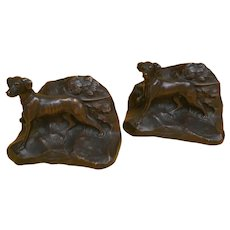 Jennings Brothers Dog Book Ends