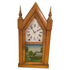 Gothic tiger maple Ansonia Clock