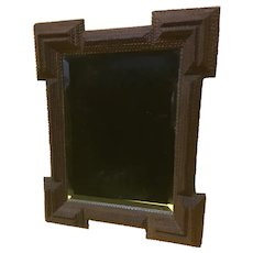 Tramp Art Beveled Mirror