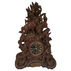 Black Forest Fox Clock