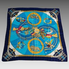 Vintage Hermes Silk Scarf Circus by Annie Faivre from 1983
