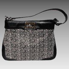 Vintage Ann Taylor Black Leather Shoulder Bag
