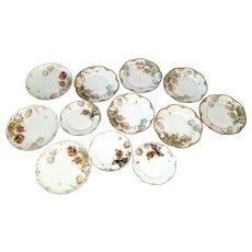 Feu De Four Haviland Limoges Twelve Porcelain Plates