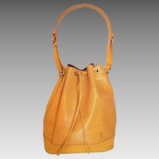 Authentic Vintage Louis Vuitton Yellow Epi Leather Noe Bucket Bag