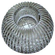 Vintage Crystal Cut Glass Salt Cellar
