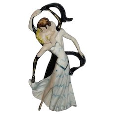 Capodimonte Porcelain Large Ballroom Dancing Couple Signed and Numbered