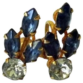 Bugbee and Niles Purple earrings with screw backs