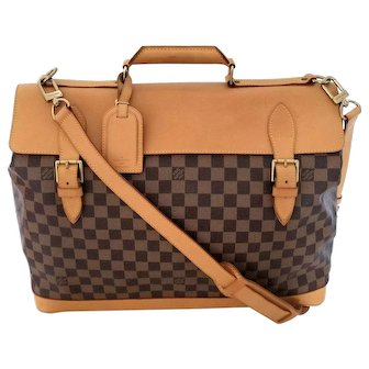 Authentic Vintage Louis Vuitton Limited Edition Clipper 45 Damier Centenaire Luggage Bag