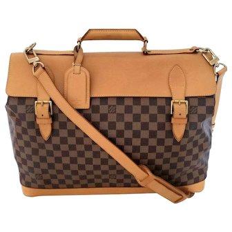 Authentic Vintage Louis Vuitton Limited Edition Clipper 45 Damier Centenaire Luggage Bag