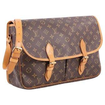 Louis Vuitton Unisex Vintage Monogram Sac Gibeciere GM Messenger Bag