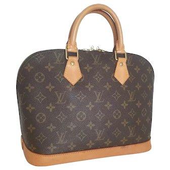 Louis Vuitton Alma PM Satchel Vintage Authentic Handbag