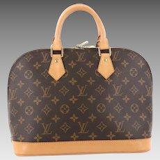 Authentic Vintage Louis Vuitton Monogram Alma PM Satchel Bag