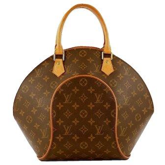 Authentic Louis Vuitton Ellipse MM Monogram Vintage Satchel Bag