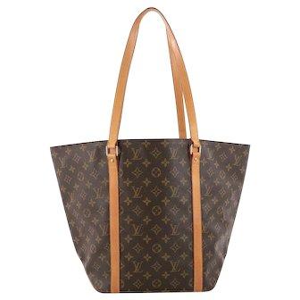 Louis Vuitton Vintage Shopping Sac Cabas Tote Monogram Shoulder Bag