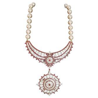 Retired Heidi Daus Rhinestone Swarovski Crystal Statement Necklace with Removable Pendant