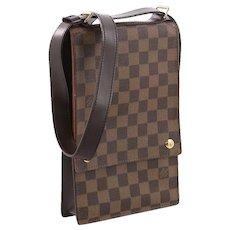 Louis Vuitton Vintage Rare Portobello Messenger Damier Unisex Travel Bag