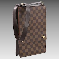 Louis Vuitton Vintage Rare Portobello Messenger Damier Unisex Travel Bag