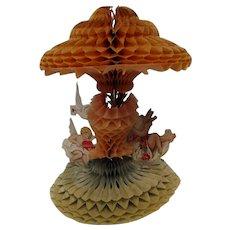 """Victorian 1927 - 11"""" T Honeycomb Cherubs Valentine"""