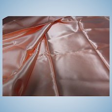 Vintage Peach Satin Fabric 2 Y