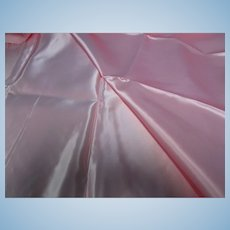 "Vintage Pink Heavy Satin Fabric 70"" L"