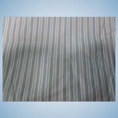 Vintage Cream Blue Stripe Flannel Fabric