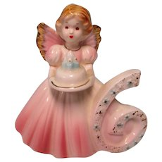 Josef Originals 6 Birthday Angel Figurine