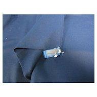 Dark Navy Blue Pendleton Wool Fabric