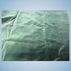 Vintage Dark Green Velvet Fabric
