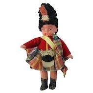 "Vintage 4 1/2"" All Bisque Scottish Souvenir Doll"
