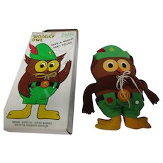 "1973 Give A Hoot 14"" Owl Toy w Box"