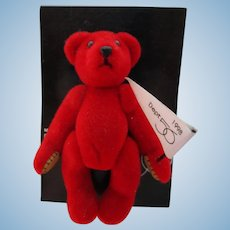 1998 Department 56 Red Teddy Bear Pin