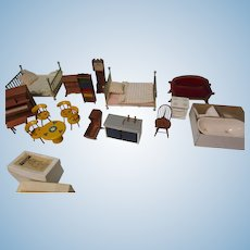 19 Pc Boxed Shackman Wood  Doll House Furniture
