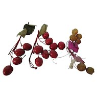 Red Berries & Apples Hat Trim for Dolls
