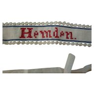 """Vintage 17 1/2"""" Early Red X  Cross Stitched Belt"""