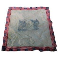 WW1 Souvenir Silk Handkerchief Flags Eagle